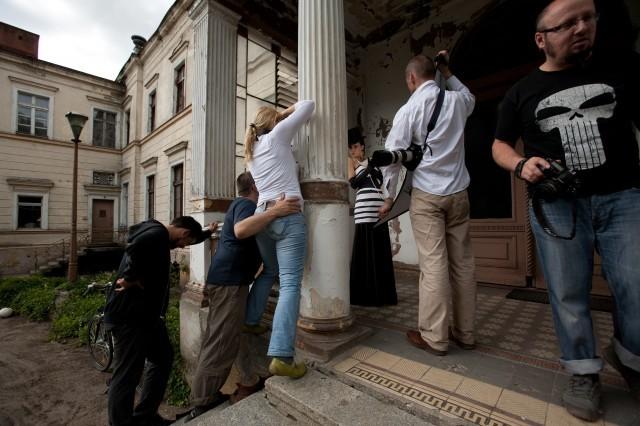 ... zawsze jednak można było liczyć na pomoc kolegów w utrzymaniu równowagi ;), fot. Iwoka Aleksandrowicz