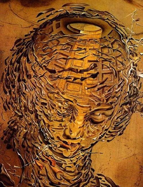 """Eksplodująca głowa"" Salvador Dali"