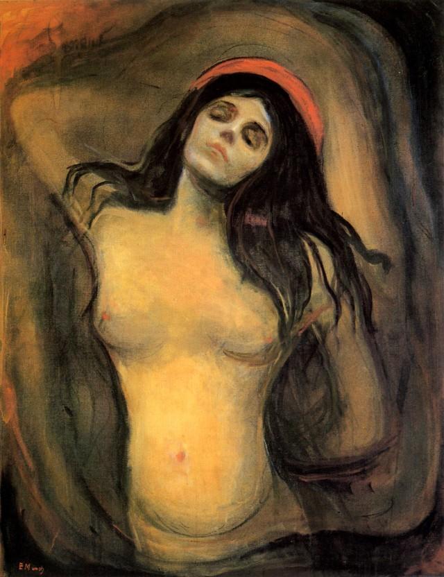 """""""Madonna"""" 1894-1895 Edvarda Muncha to moim zdaniem jedna z doskonalszych prób miłości i fascynacji kobietą na płótno"""