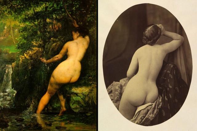 Inspiracja czy przypadek - dwa dzieła żyjących w jednym czasie twórców - malarza-Courbeta oraz fotografa-Rejtlandera
