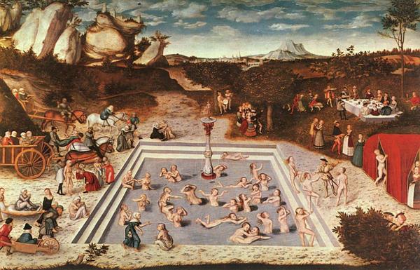 """""""Fontanna młodości"""" 1546 rok Łukasz Cranach"""