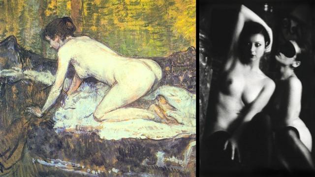 Oto owoce spacerów po paryskich burdelach - malarza i fotografa, te obserwacje dzieli wiek.
