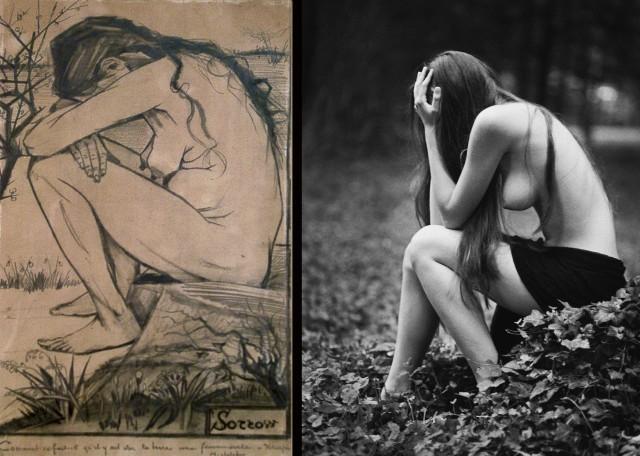 "Moje baaardzo stare zdjęcie zainspirowane ""Smutkiem"" Vincenta van Gogh"