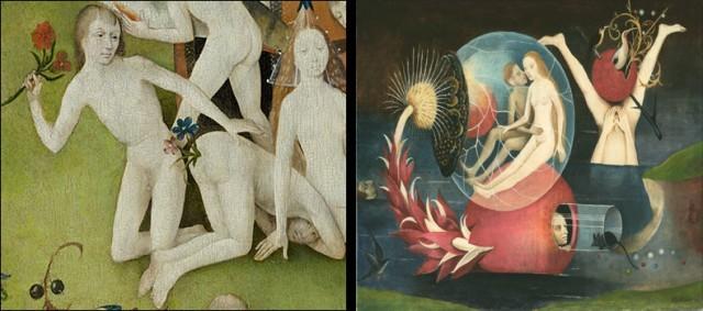 żeby nie było, że kłamię, proszę zbliżenie symbolicznych wygibasów Boscha