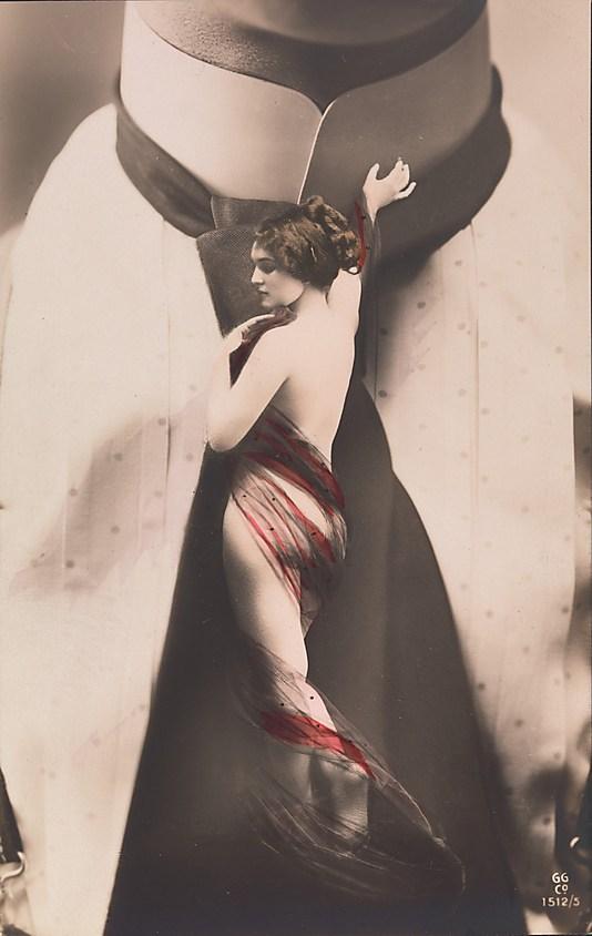 Nude Woman on Man
