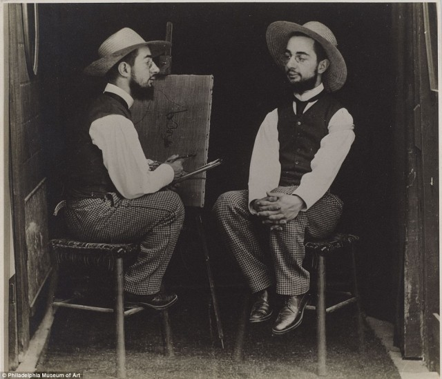 Henri de Toulouse Lautrec jako artysta i jako model, Maurice Guibert, 1890