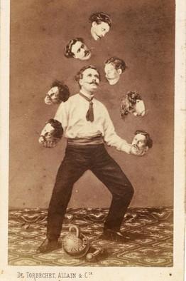 Mężczyzna żonglujący swoją własną głową, autor Saint Thomas D