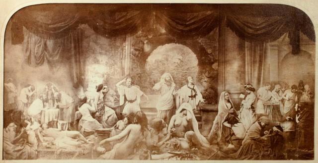 """Oscar-""""Two ways of life"""" Gustave Rejlander - dzieło z 1857 roku złożone z 30 ekspozycji, albumin"""